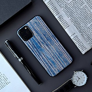 Such as the vegetable scorpion scorpion the first layer of leather blue and white wood texture hand-stained series iphone6 ​​7 8 plus i6 i7 i8 iphone x Apple phone shell protection cover surrounded by drop