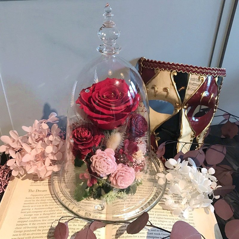 Magic does not fade red rose glass bells Deluxe Edition Mother's Day / Valentine's Day