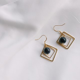 Square Maze Earrings Ear Clips