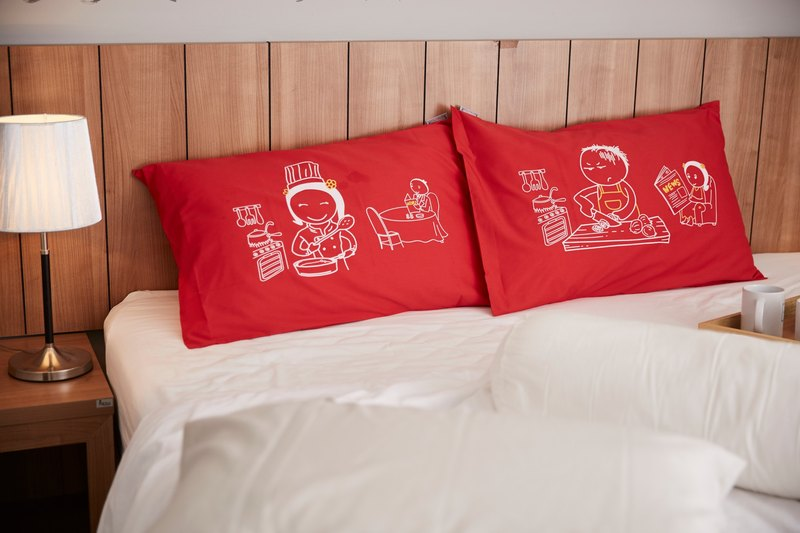 """I cook You eat"" Couple Pillow Case: 009"