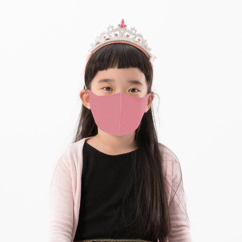 兒童款-4色-3D立體透氣抗菌口罩1入組