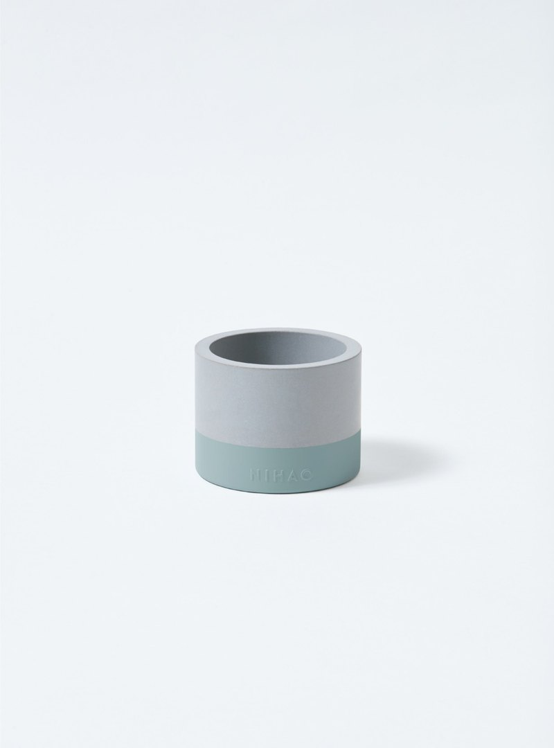 NIHAO | General type of cement pot (distant fog green)