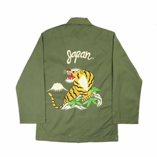 Tsubasa.Y Ancient House A05 Ancient Deep Mountain Beast Embroidered Military Shirt, Shirt Embroidered Military Uniform