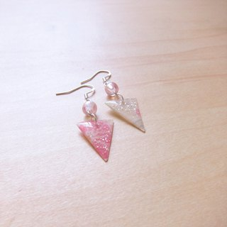 2 random hair color flashing triangle // // 2nd use Accessories / Accessories Cloth / fabric earrings