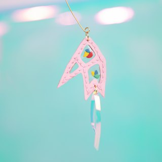Ostrich series [Star Bird] creative cartoon ear ornament leather handmade original design music festival laser Di Di