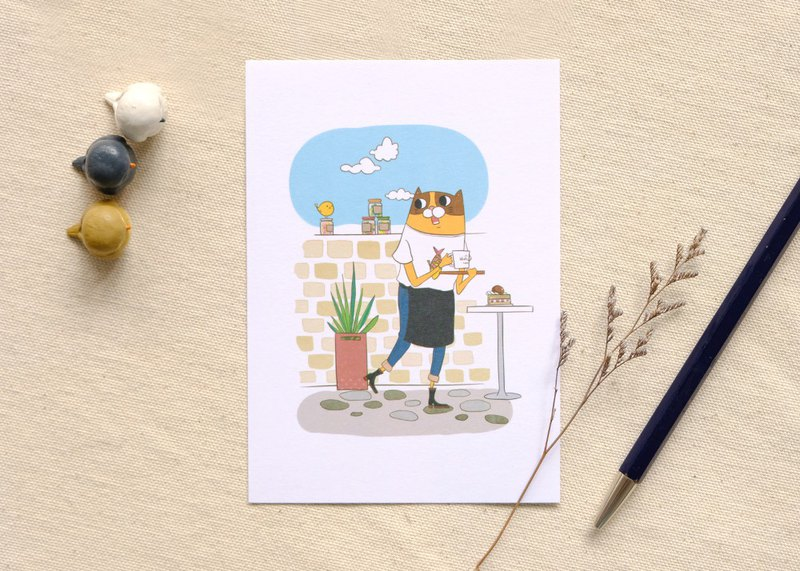 cat series postcard 02