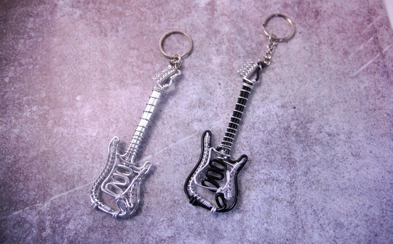 """Play Now-Electric Guitar"" Musical Instrument Key Ring"