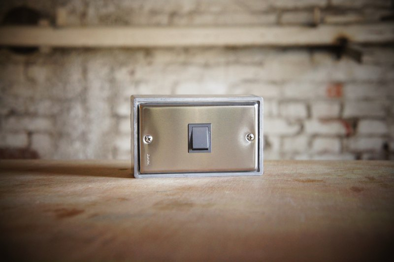 One open / stainless steel series / switch / three way switch / black gray (without metal box)