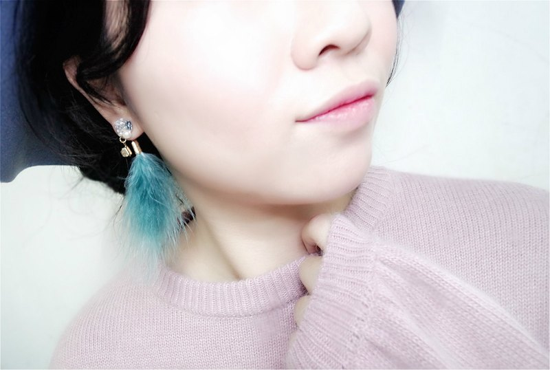 Multi-variation earrings set (Lake green)