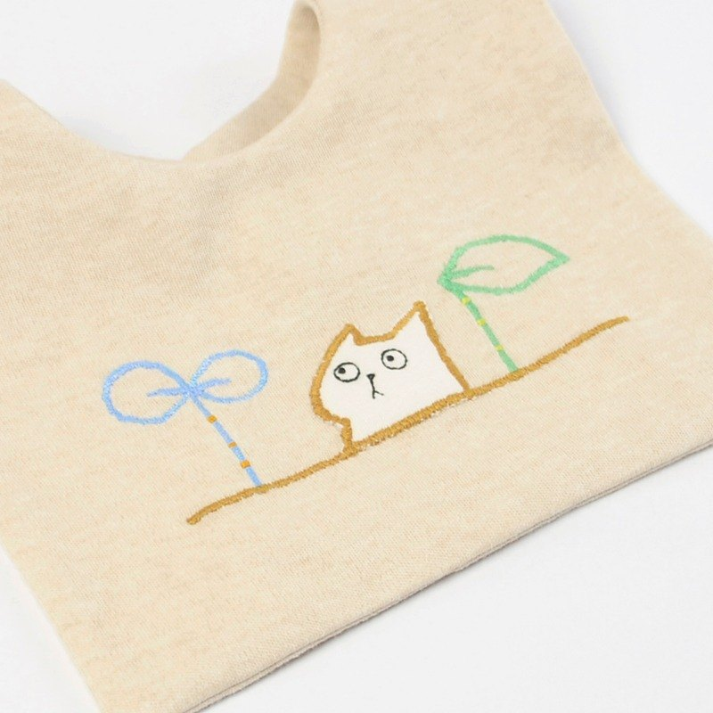 Grow a cat bib glove set (with small cards, wrapping paper)