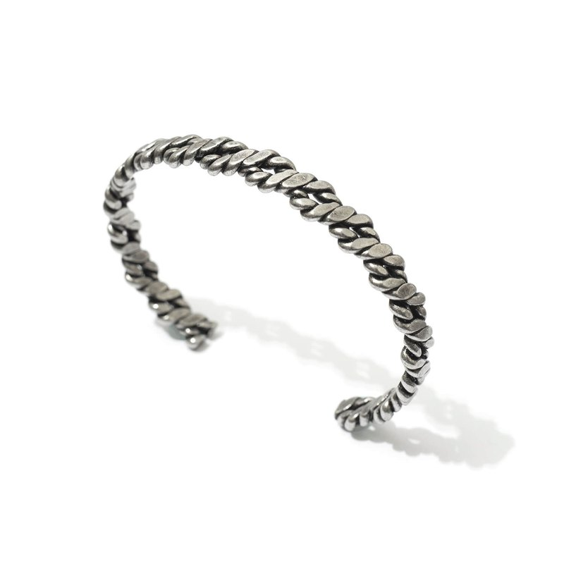 Recovery Twist C-Bangle (Ancient Silver)