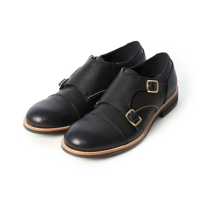 ARGIS Japanese horizontal style Mengke leather shoes #51112 gentleman black - Japanese handmade