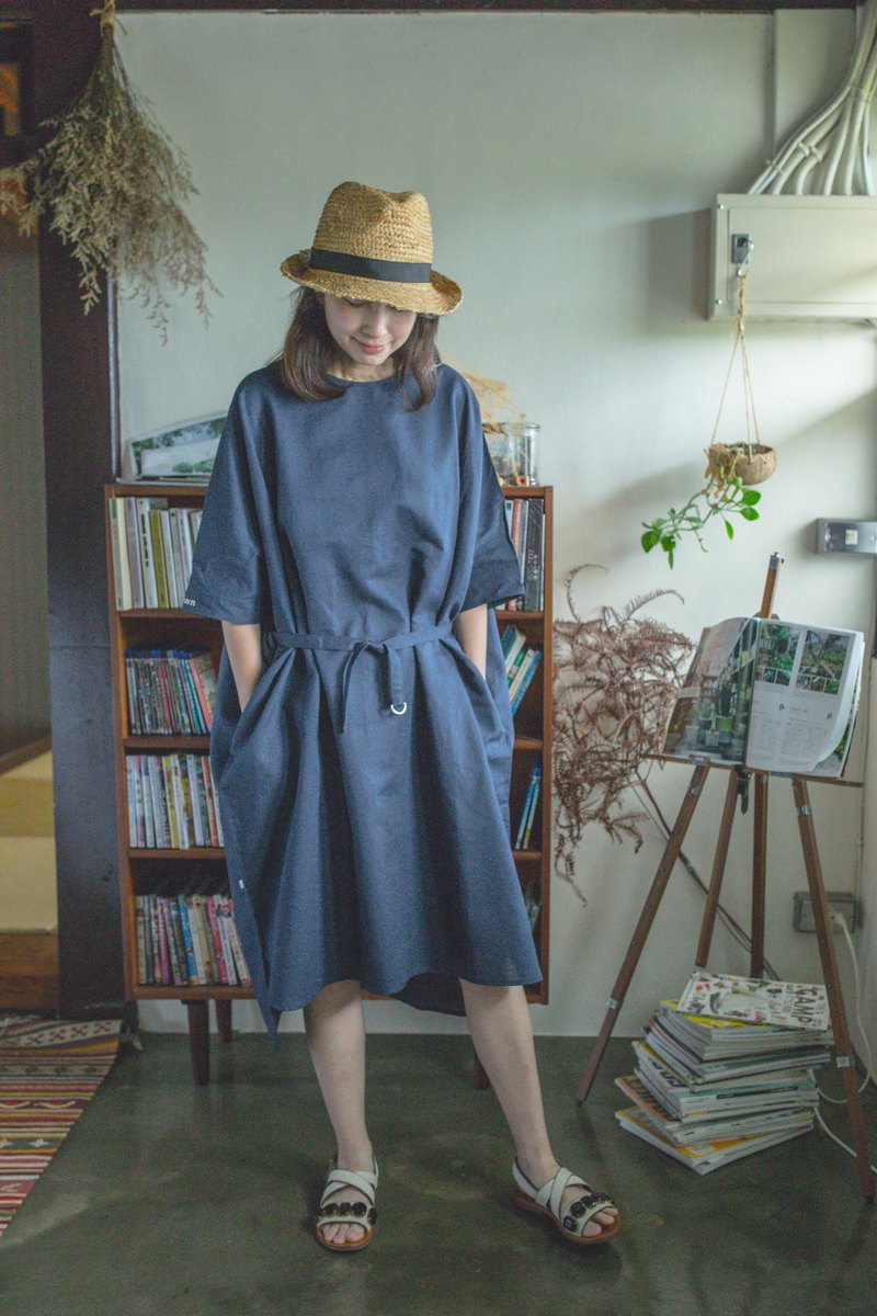 Taiwanese goat cotton and linen dress