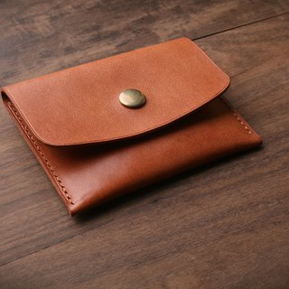 [NS handmade leather goods] card holder, business card holder, short clip (free printing)