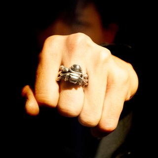 A book/handmade silver/ring/Spaceman
