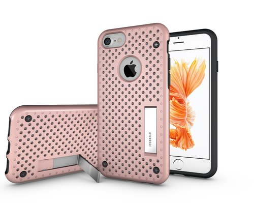 "OVERDIGI iPhone7 4.7 ""Combo vertical full covering shell rose gold double DROP"