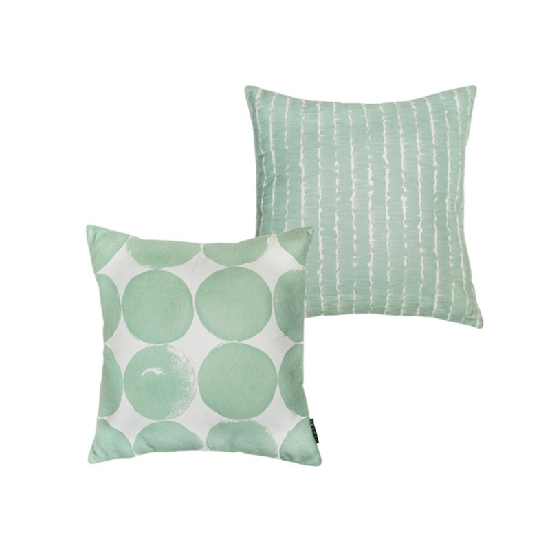 Draft Nordic ins summer bedroom sofa living room bedside window pillow pillow pillow ink dot mint green