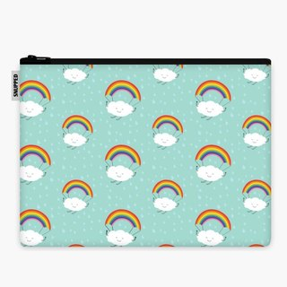 SpaceSuit - Document Pouch - rainbow parachute
