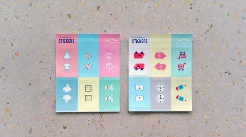 Small life page sticker set