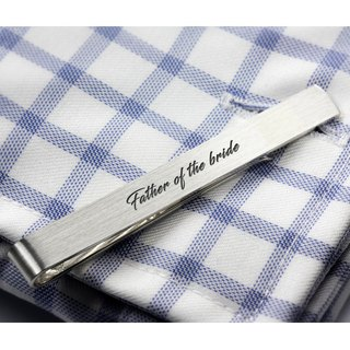 Father of the bride Tie Clip - Personalized Tie Clip 925 silver - Wedding gift