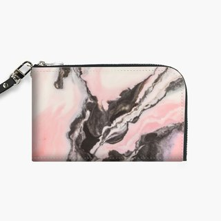 Snupped Isotope - Phone Pouch - Pink and black marbled paper II
