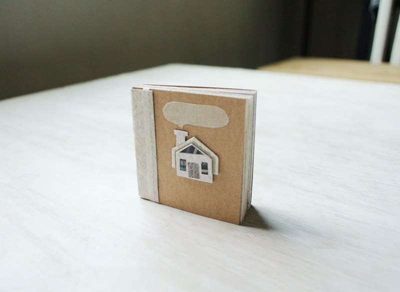 5cm small book / hand paper / color paper set / meter white chimney small house