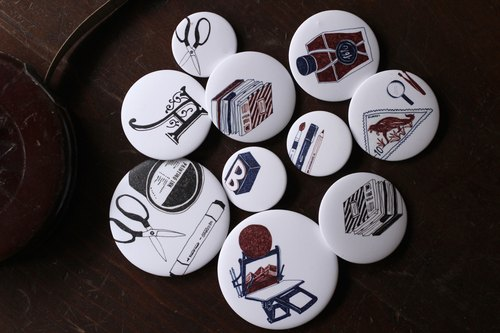 Paper stationery set ◈ pin badge