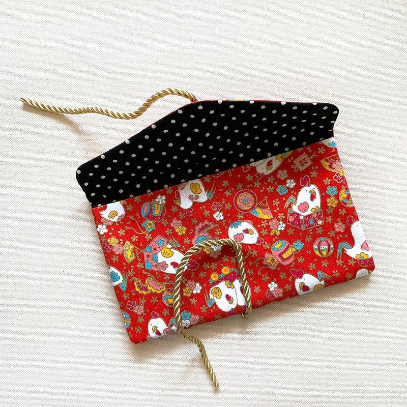 Golden Rooster Annunciation Red Envelope New Year Red Envelope New Year Money Cloth Red Envelope Bag