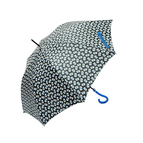 Straight bone automatic umbrella a little bell - elephant black
