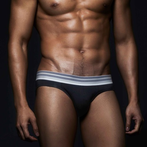 (New) BF006 male simple triangle underwear - black
