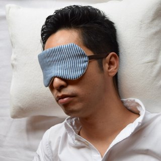 Pure  Hickory Light Blue/eye mask/with a bag/stripe/travel/gauze/sleep mask