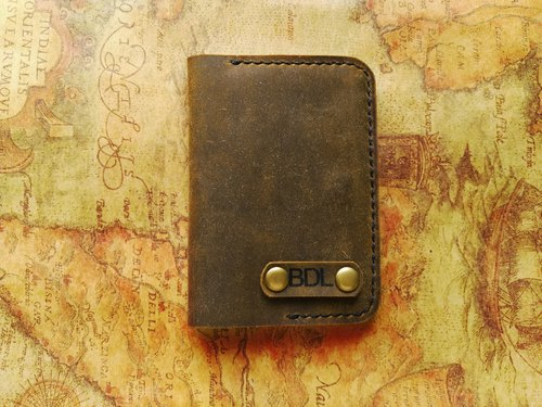Free shipping,vintage leather card holder,leather card holder,Minimalist Wallet