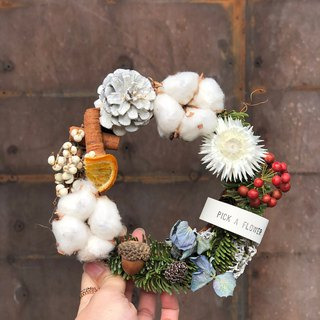 Warm winter blessing small wreath birthday gift / Christmas gift / Christmas wreath / exchange gift / dry flower pre-order