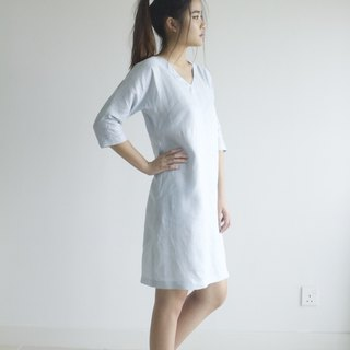 Sale 30% off linen dress / linen clothing / linen for women / short dress E 41 D