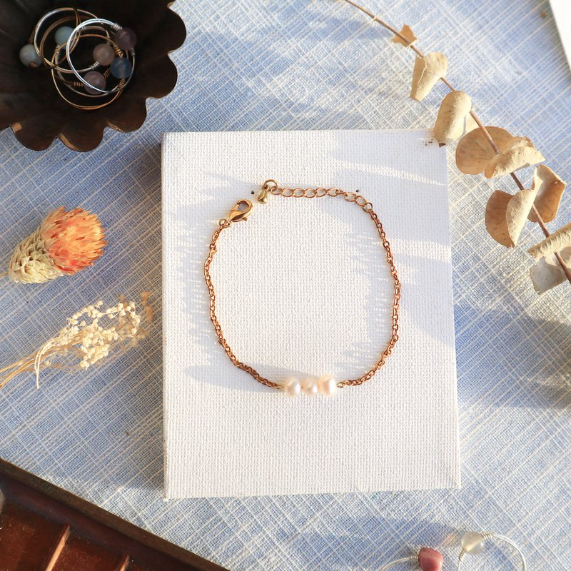 Freshwater Pearl Brass Bracelet: Sunday Breakfast