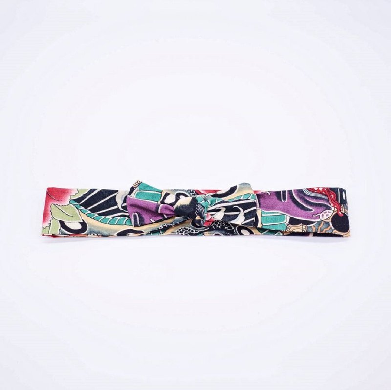 Ukiyo-e bandage hair band with handmade hair band limited hair band