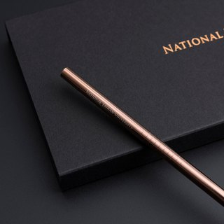 NTU stainless steel straw single branch - copper gold