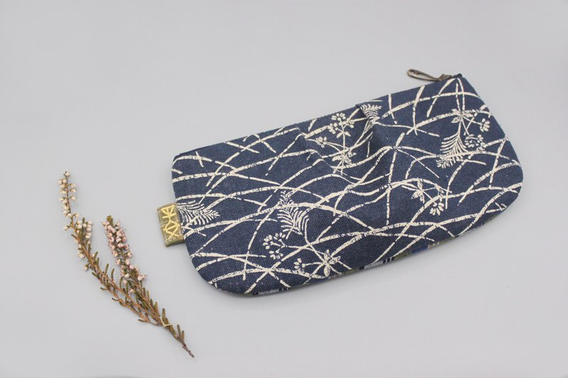 Ping An Universal Bag-Rice and wheat fields swaying in the wind, double-sided two-color pencil case, cosmetic bag, storage bag