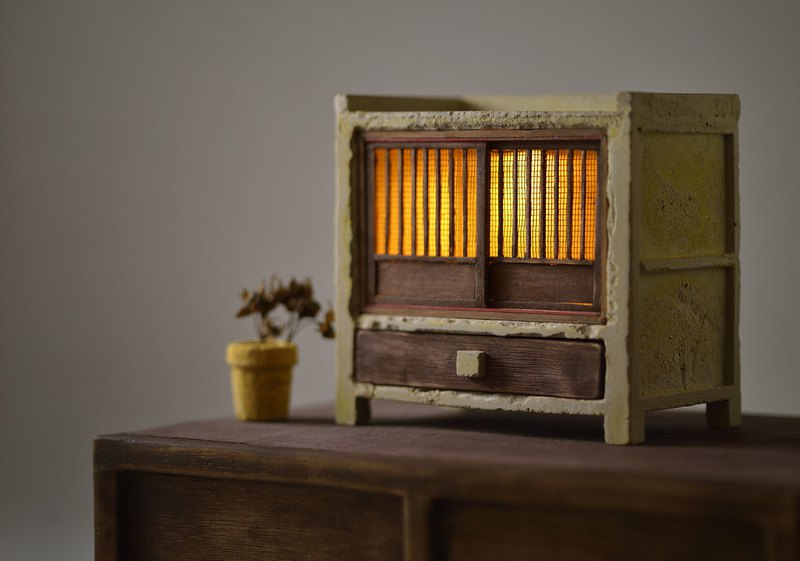 Old cement cabinet night light