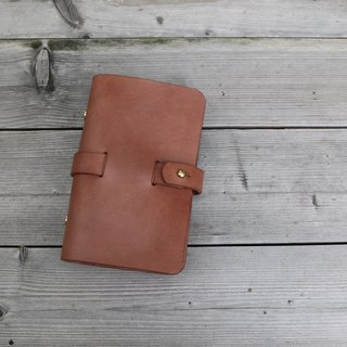 <隆鞄工坊>Denim gentleman series (brown)-A6 book cover/handbook/log/handbook/notebook