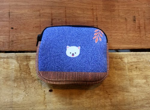 Diving cloth coin purse - blue for walking (sold out)