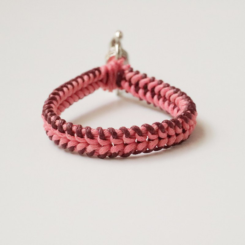 Braided Keyring - Sanctified Editing (Liquor Red + Watermelon Red)