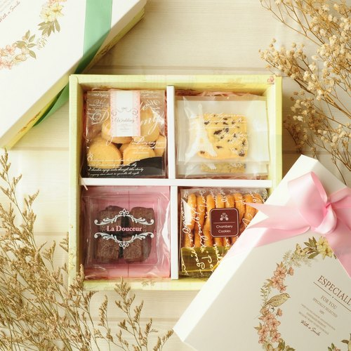 [Chebery CHAMBERY] Happy Flower Cake Box (with bag) / European Garden Style / Ribbon Ribbon / Gift / Gift
