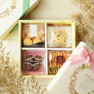 [香贝里CHAMBERY]Happiness flower cake gift box (with bag) / bow ribbon / with hand gift