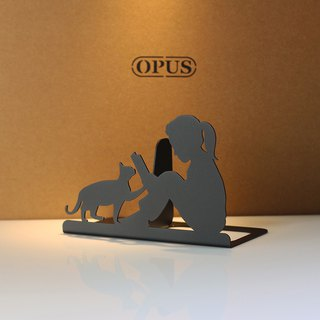 【OPUS Eastern Metalwork】 European Iron Book Block / Creative Bookshelf / Metal Book Clip / Christmas Exchange Gift / Home Decoration / Valentine's Day / Birthday Present / Photographic Props (Reading Girl - Classic Black)