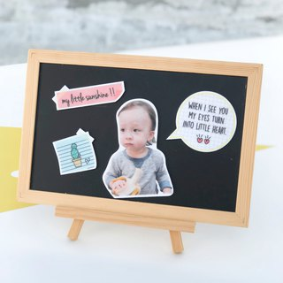 Customized children's baby hair/felt magnet group