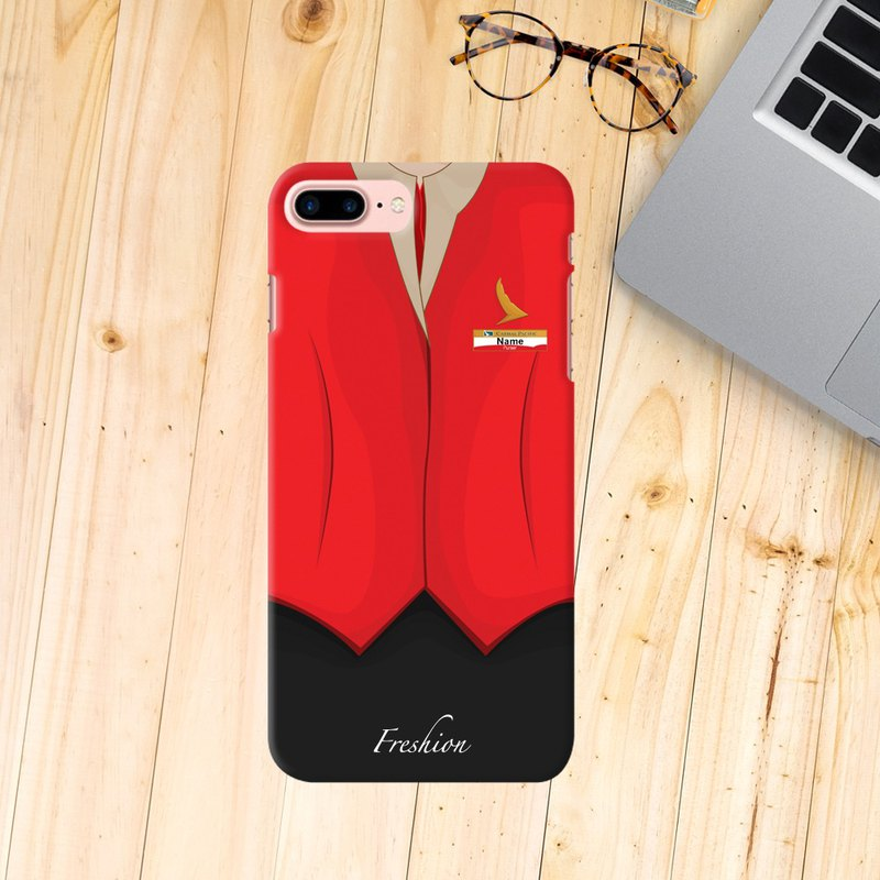 Cathay Pacific Airlines Air Hostess Fight Purser Red iPhone Samsung Case