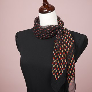 Black bottom water scarf