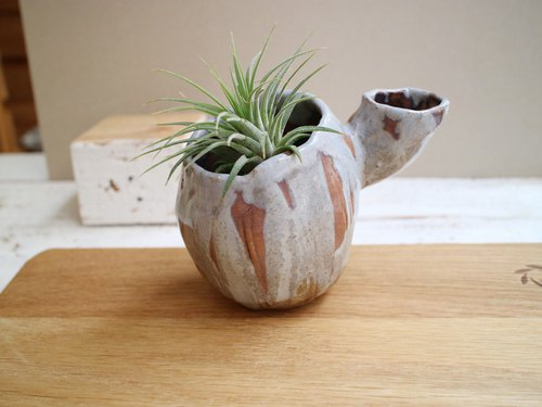 The third floor hand made pottery cactus double potted flower a