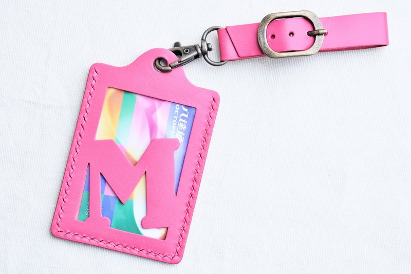 [Department of Rainbow 🌈RAINBOW8 | dark pink | ROSA- Initials A to Z letters of the alphabet luggage tag] Good sewing leather bag material free handmade bag pressure bag rainbow card holder card holder name card holder luggage travel accessories travel fol